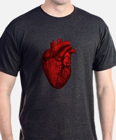 Vintage Anatomical Human Heart T-Shirt