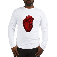 Vintage Anatomical Human Heart Long Sleeve T-Shirt