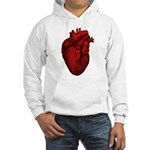 Vintage Anatomical Human Heart Hooded Sweatshirt