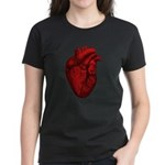 Anatomical Human Heart Women's Dark T-Shirt