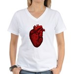 Anatomical Human Heart Women's V-Neck T-Shirt