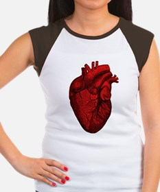 Vintage Anatomical Human Heart Women's Cap Sleeve
