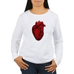 Anatomical Human Heart Women's Long Sleeve T-Shirt