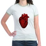 Vintage Anatomical Human Heart Jr. Ringer T-Shirt