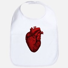Vintage Anatomical Human Heart Baby Bib