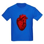Vintage Anatomical Human Heart Kids Dark T-Shirt