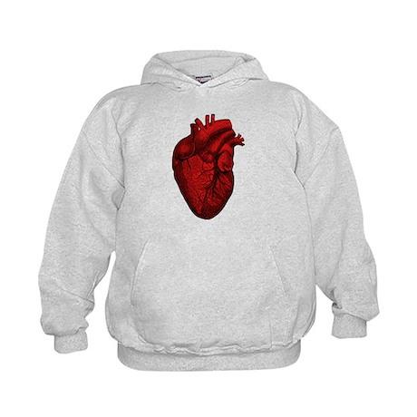 Vintage Anatomical Human Heart Kids Hoodie