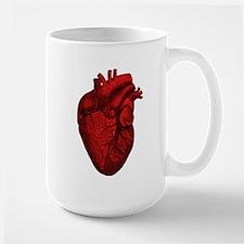 Vintage Anatomical Human Heart Large Coffee Mug