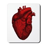 Vintage Anatomical Human Heart Mousepad
