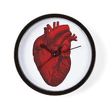 Vintage Anatomical Human Heart Wall Clock