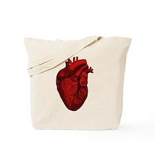 Vintage Anatomical Human Heart Tote Bag