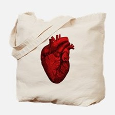 Vintage Anatomical Human Heart Tote Bag