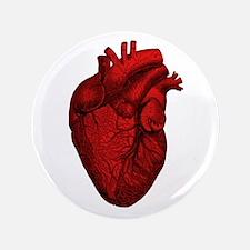"Vintage Anatomical Human Heart 3.5"" Button"