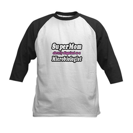 """Super Mom...Microbiologist"" Kids Baseball Jersey"
