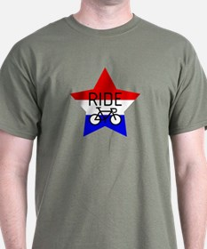 Red, White and Blue RIDE star T-Shirt