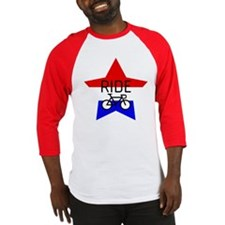 Red, White and Blue RIDE star Baseball Jersey