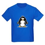 Weight lifting penguin 2 Kids Dark T-Shirt