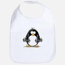 Weight lifting penguin 2 Bib