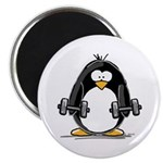Weight lifting penguin 2 Magnet