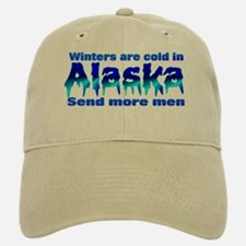 It's cold in Alaska send more men Baseball Baseball Cap(beige)