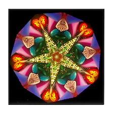 Colorful Star Kaleidoscope Tile Coaster