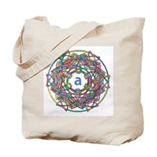 "Brightly colored monogram Tote Bag ""A"""