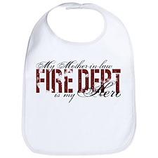My Mother-in-law My Hero - Fire Dept Bib
