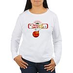 Navy Christmas Women's Long Sleeve T-Shirt