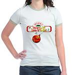 Navy Christmas Jr. Ringer T-Shirt