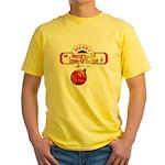 Navy Christmas Yellow T-Shirt