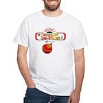 Navy Christmas White T-Shirt