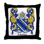 Amador Family Crest Throw Pillow