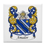 Amador Family Crest Tile Coaster