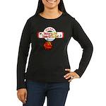 Navy Christmas Women's Long Sleeve Dark T-Shirt