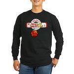 Navy Christmas Long Sleeve Dark T-Shirt