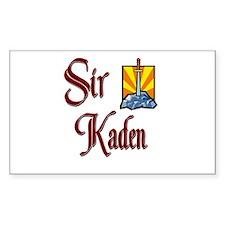 Sir Kaden Rectangle Decal