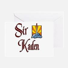 Sir Kaden Greeting Card