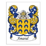 Amaral Family Crest Small Poster