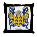 Amaral Family Crest Throw Pillow