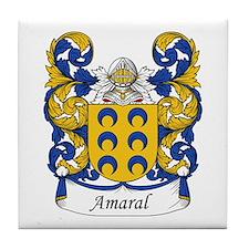 Amaral Family Crest Tile Coaster