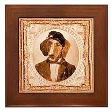 Plott Hound RUPERT Framed Tile