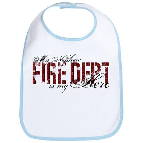 My Nephew My Hero - Fire Dept Bib