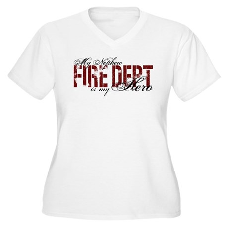 My Nephew My Hero - Fire Dept Women's Plus Size V-