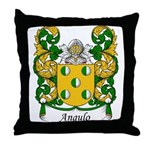 Angulo Family Crest Throw Pillow