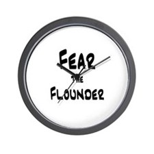 Fear the Flounder Wall Clock
