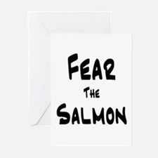 Fear the Salmon Greeting Cards (Pk of 10)
