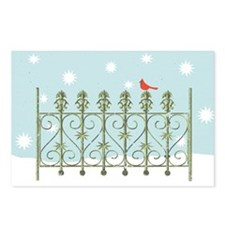 Cardinal in Snow Postcards (Package of 8)