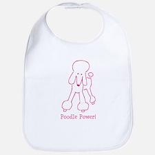 Poodle Power Bib