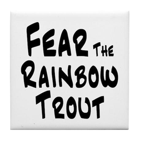 Fear the Rainbow Trout Tile Coaster