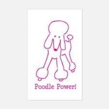 Poodle Power Rectangle Decal